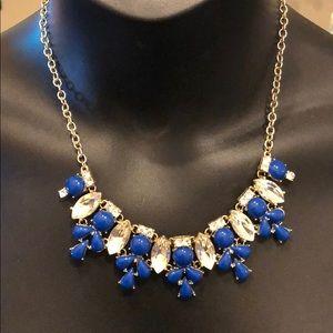 Baublebar blue and silver gem statement necklace